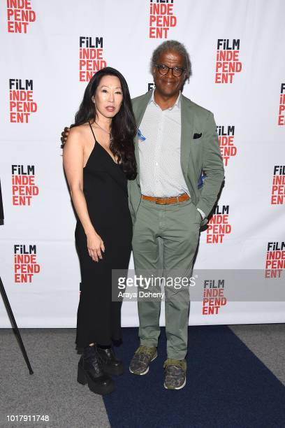 Angie Wang and Elvis Mitchell attend Film Independent presents special screening of 'MDMA' at The WGA Theater on August 16 2018 in Beverly Hills...