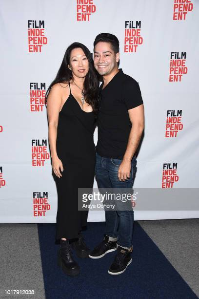 Angie Wang and Richard J Bosner attend Film Independent presents special screening of 'MDMA' at The WGA Theater on August 16 2018 in Beverly Hills...