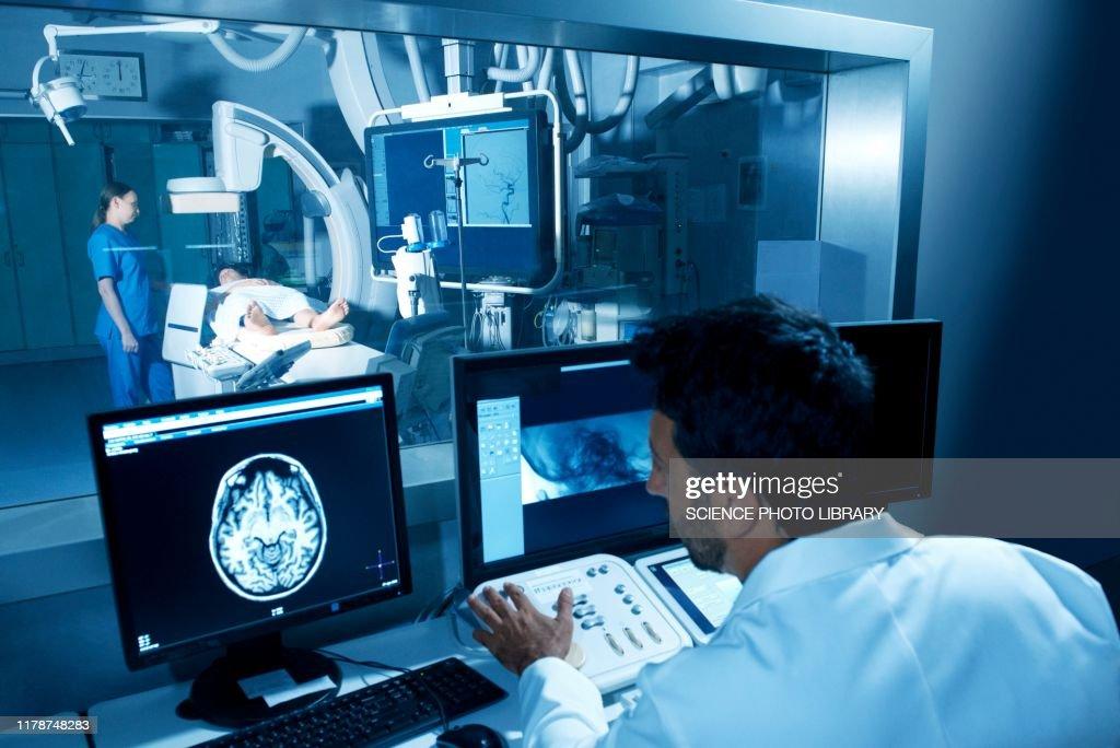 Angiogram examination : Stock Photo