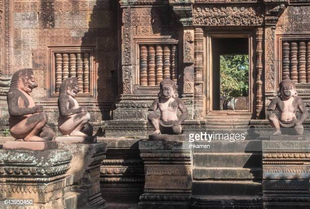 angkor,  siem reap, cambodia. banteay srei - banteay srei stock pictures, royalty-free photos & images