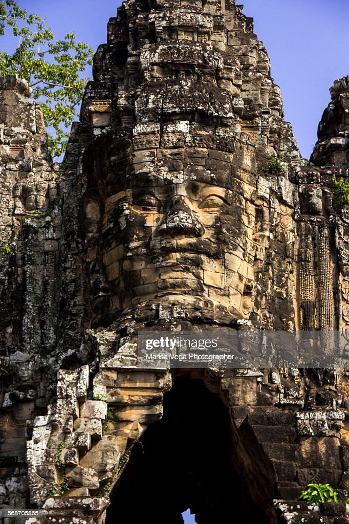Angkor Thom South Gate : Foto de stock