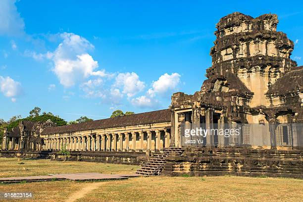 angkor wat at siem reap, cambodia. - khmer stock pictures, royalty-free photos & images