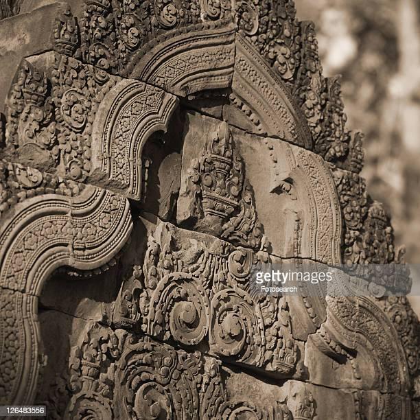 angkor wat - banteay srei - siem reap, cambodia - banteay srei stockfoto's en -beelden