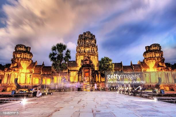 Angkor Wat Lights Up
