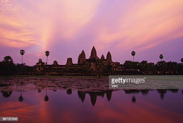 Reflejo de Angkor Wat, Camboya