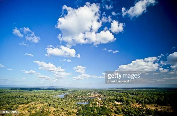 Angkor Wat seen from a balloon