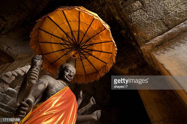 angkor wat statue - vishnu stock photos and pictures