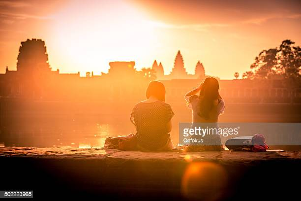 Temple d'Angkor Wat au lever du soleil, Siem Reap, Cambodge