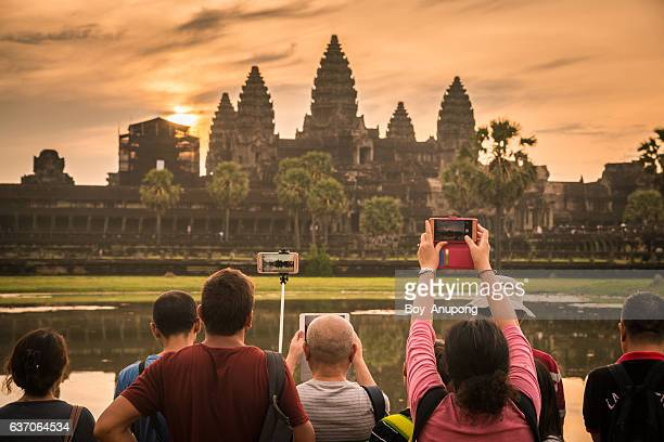 Angkor Wat the iconic landmark and the most tourist destination in Siem Reap, Cambodia.