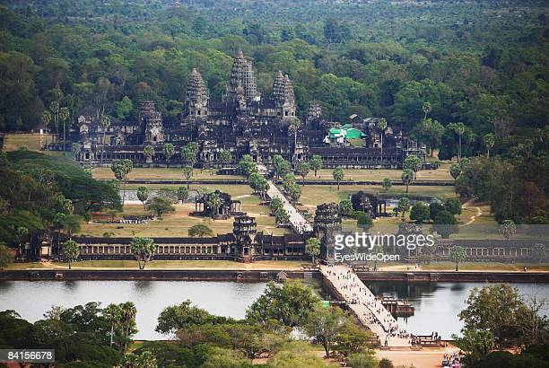 Angkor Wat the most famous temple in the Angkor Archeological Park in Siem Reap on December 30 Cambodia. The temple was constructed by King...