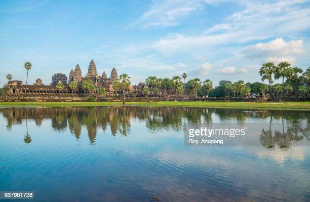 Angkor Wat the most tourist attraction in Siem Reap, Cambodia.