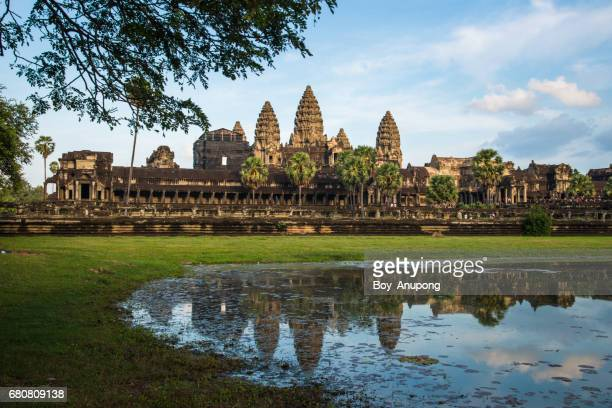Angkor Wat the world heritage sites in Siem Reap of Cambodia.