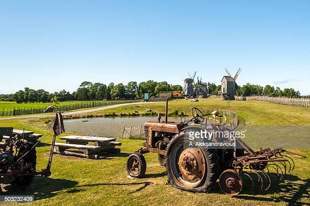 angla windmill hill, saaremaa, estonia - estland bildbanksfoton och bilder