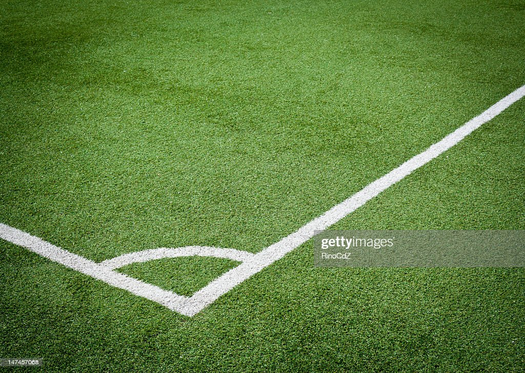 Angle Of Soccer Field : Stock Photo