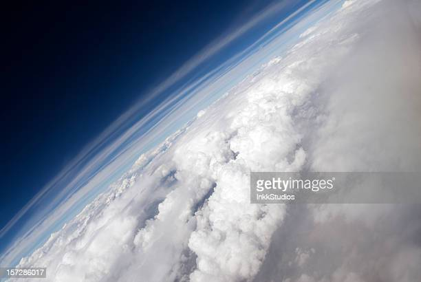 angled aerial of earth - atmosphere stock pictures, royalty-free photos & images
