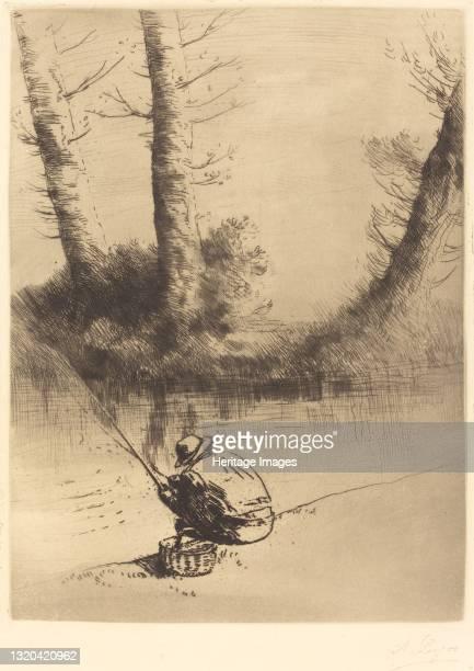 Angler . Artist Alphonse Legros.