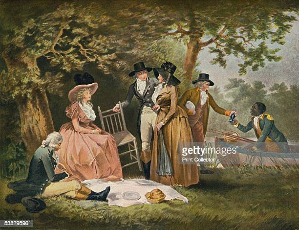 Anglers' Repast 1789 After a painting by George Morland From The Connoisseur Vol IV [Otto Limited London 1902] Artist William Ward
