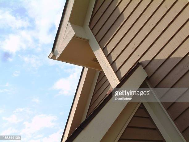 Angles, Lines, Shadows, Sky, Roof Siding House