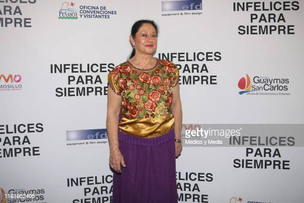 Angélica Aragón poses for photos during the first day of filming of 'Infelices Para Siempre' at Videocine on July 12 2019 in Mexico City Mexico