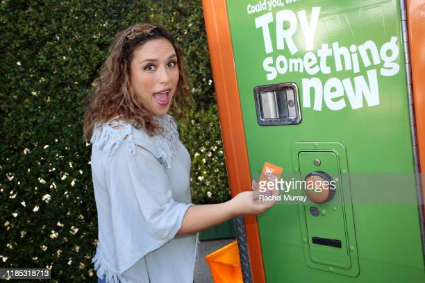 Angélica Vale attends Netflix 'Green Eggs Ham' Los Angeles Premiere at Post 43 on November 03 2019 in Los Angeles California