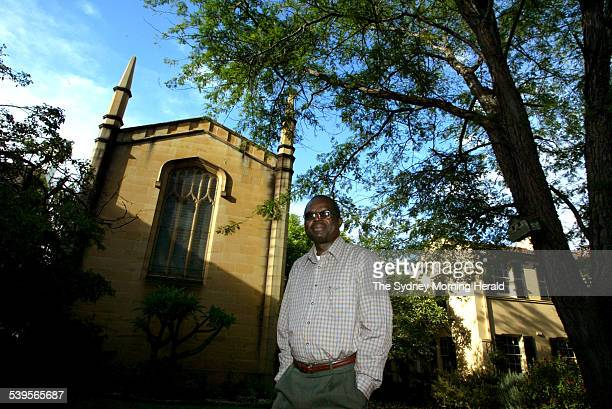 Anglican Archbishop Henry Luke Orombi from Uganda visiting Sydney Taken at the Moore College Camperdown 22 March 2005 SMH Picture by BEN RUSHTON