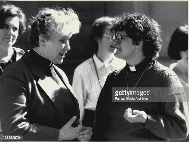 Anglican church opposed to the ordination of womenRev Alison Cheek from Pennsylvania Rev Elizabeth Smith Deacan St Eanswythe Altona Melb August 22...