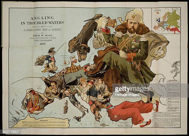 Angling in Troubled Waters A SerioComic Map of Europe Private Collection