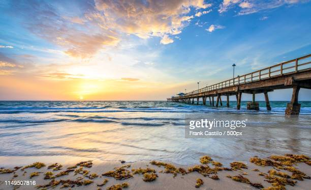 anglins fishing pier sunrise - sunrise fort lauderdale stock pictures, royalty-free photos & images