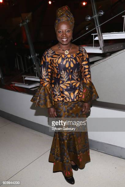 Angélique Kidjo attends Lycee Francaise de New York Gala 2018 Honoring Angélique Kidjo on February 24 2018 in New York City