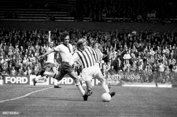 Anglo Italian Cup match at the Hawthorns. West Bromwich Albion v Cagliari. Asa Hartford of Albion in action, 29th May 1971.