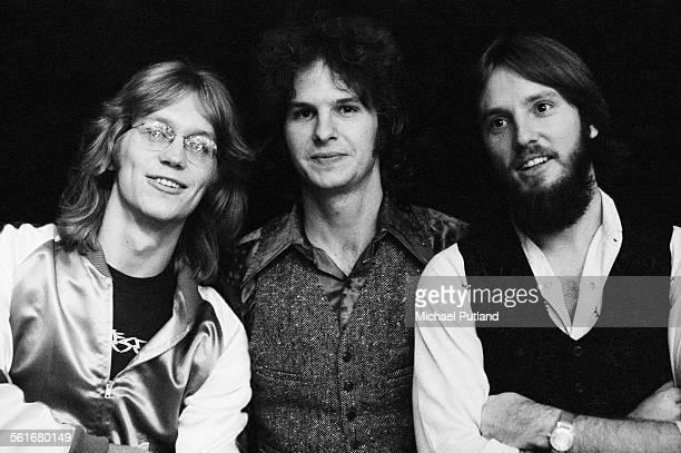 AngloAmerican folk rock band America 30th September 1975 Left to right Gerry Beckley Dan Peek and Dewey Bunnell