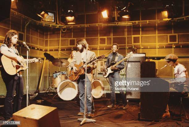 AngloAmerican folkrock band America performing on the first ever edition of the BBC TV music show 'The Old Grey Whistle Test' 21st September 1971...