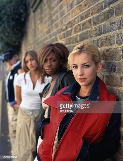 AngloCanadian girl group All Saints circa 1997 Left to right Nicole Appleton Melanie Blatt Shaznay Lewis and Natalie Appleton