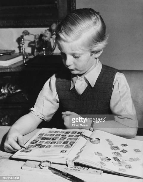 AngloFrench child actor Bobby Henrey with his stamp collection October 1948 He appears in the 1948 Carol Reed film 'The Fallen Idol'