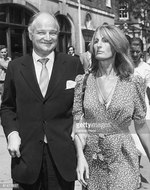 AngloFrench financier James Goldsmith and his partner Lady Annabel Birley arrive at Bow Street Court London where he is bringing a criminal libel...