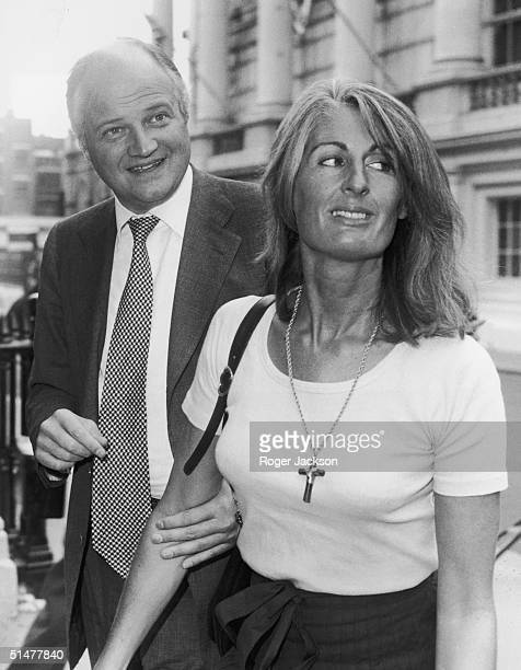 AngloFrench financier James Goldsmith and his partner Lady Annabel Birley on their way to Bow Street Court London where he is bringing a criminal...