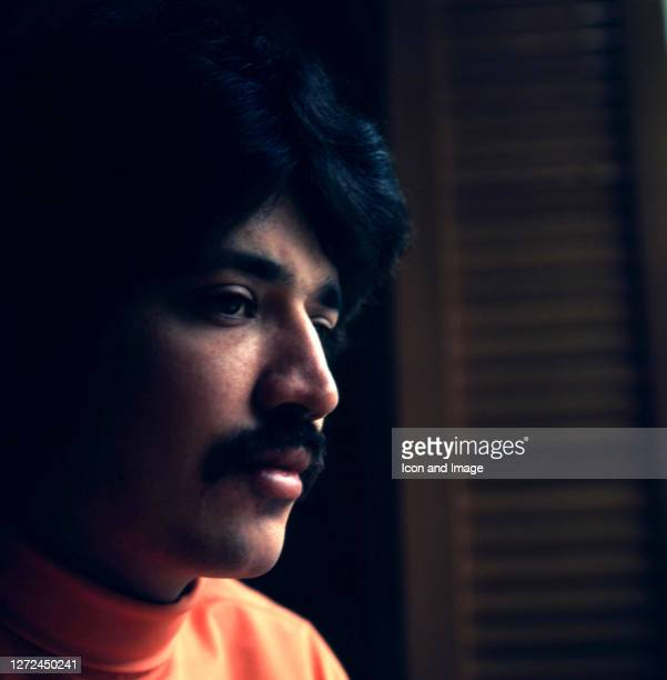 Anglo-Indian singer-songwriter and instrumentalist Peter Sarstedt poses for a portrait in London, England, 1969.