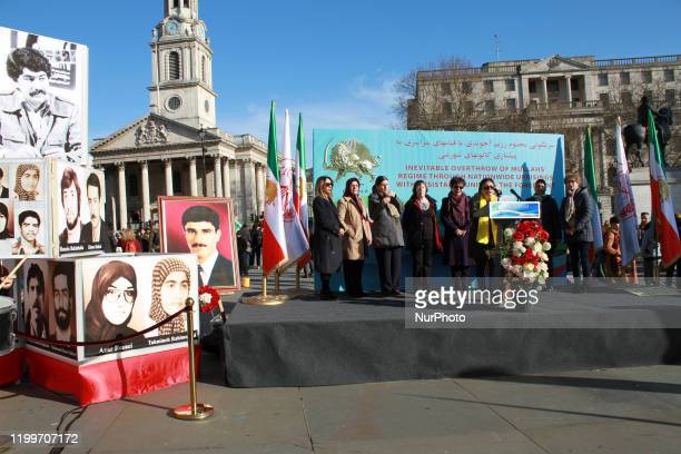 AngloIranian Communities in the UK supporters of the National Council of Resistance of Iran hold a rally in London's Trafalgar Square on anniversary...