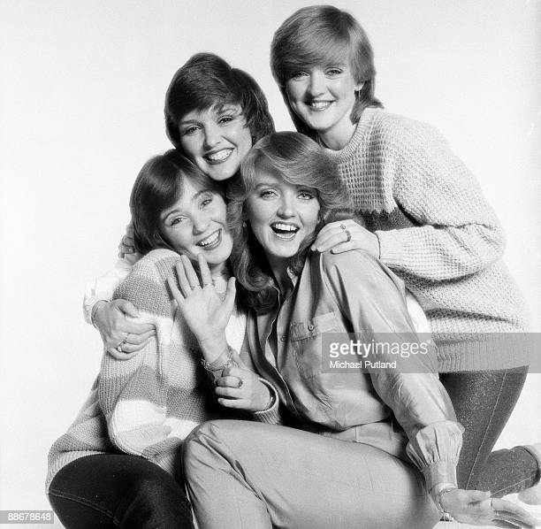 Anglo-Irish vocal group The Nolan Sisters, London, 1980. Clockwise, from top left, Maureen, Bernie, Linda and Colleen Nolan. Colleen has just joined...