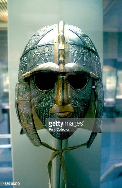 AngloSaxon helmet and mask from the Sutton Hoo Treasure 7th Century From the famous ship burial site discovered at Sutton Hoo near Woodbridge Suffolk...
