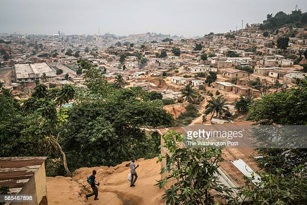 A poor neighborhood overlooking Cabinda a heavily guarded territory that accounts for half the oil output from Africa's top petroleum producer While...