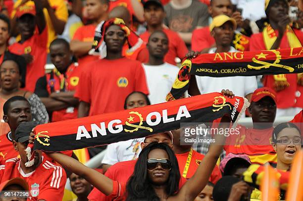 Angola fan during the Africa Cup of Nations Quarter Final match between Angola and Ghana from the November 11 Stadium on January 24 2010 in Luanda...