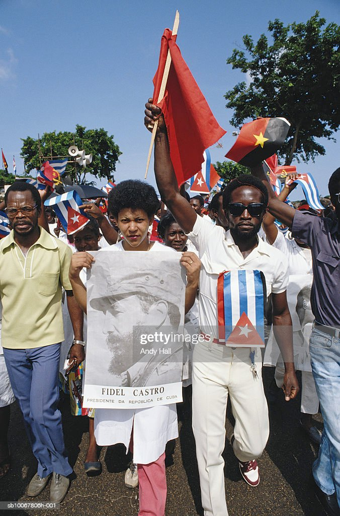 Angola, Luanda, anti-Cuban mass rally