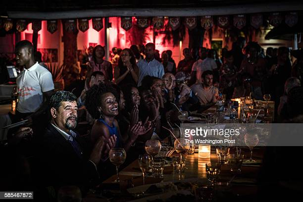 Musicians play for a packed crowd at the Miami Beach Club owned by the daughter of the president of Angola and wealthiest woman in Africa Isabel dos...