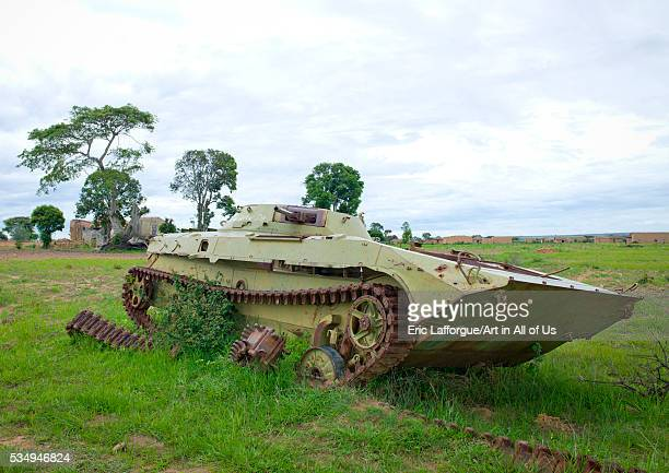 Angola Southern Africa Caconda tank wreck from the civil war