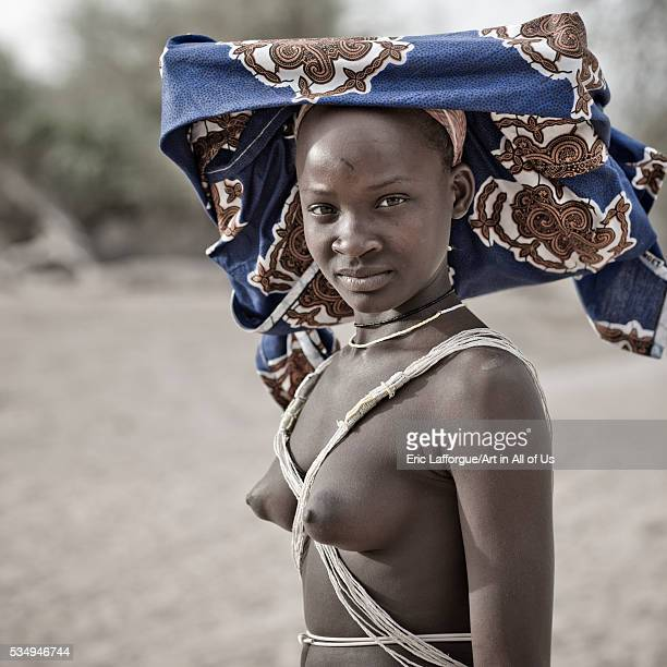 Angola Southern Africa Virie mucubal teenage girl with ompota headdress