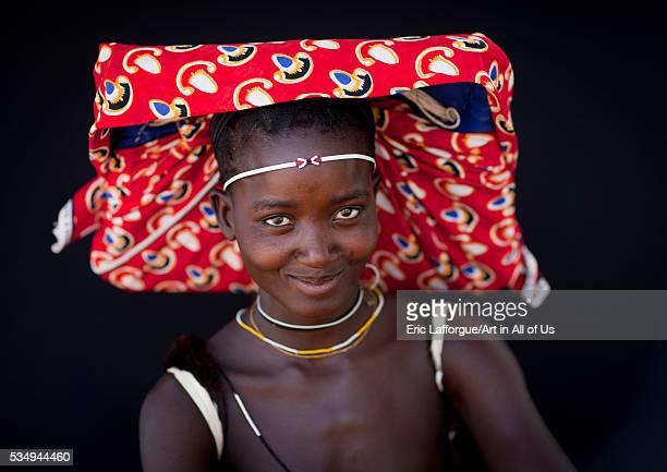 Angola Southern Africa Virie mukubal woman with ompota headdress