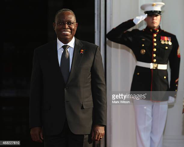 Angola Vice President Manuel Domingos Vicente arrives at the North Portico of the White House for a State Dinner on the occasion of the US Africa...