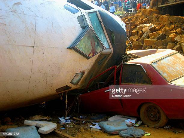 Angolan Airlines flight that crashed during landing in M'banza Congo, Angola on June 28, 2007.