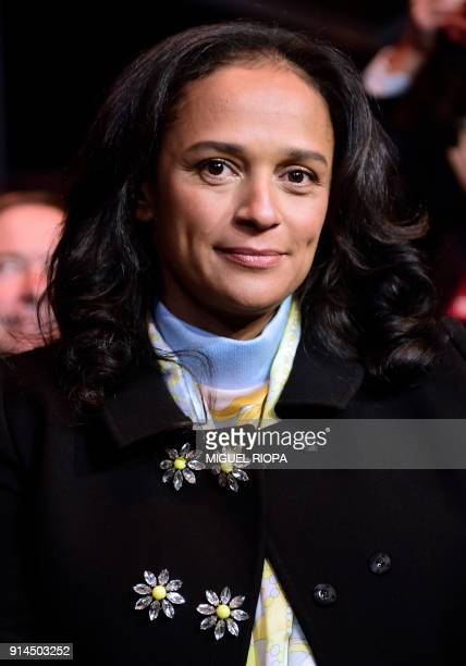 Angolan businesswoman Isabel dos Santos attends the start of the new EFACEC Portuguese corporation's electric mobility industrial unit on February 5...